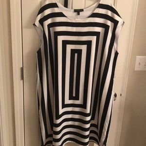 NWT Lane Bryant black and white sleeveless dress